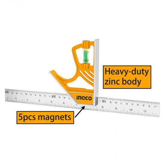 Γωνία μαγνητική με αλφάδι 300mm HSR530255 INGCO