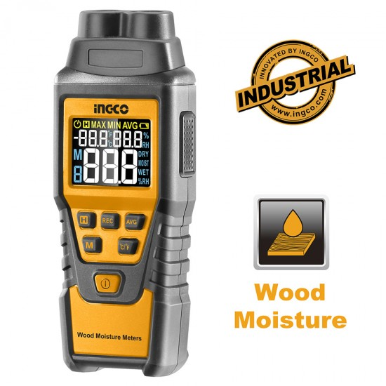 Επαγγελματικός Ηλεκρονικός Μετρητής Υγρασίας Ξύλων και Δομικών Υλικών HETWM01 INGCO