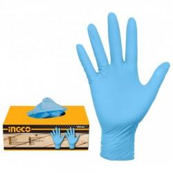 Γάντια Μιας Χρήσης Νιτριλίου Μπλε 100 τεμάχια HGNG02-L INGCO