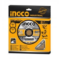 Επαγγελματικός Δίσκος Κοπής Ξύλου 60Τ Φ185mm TSB118513 INGCO