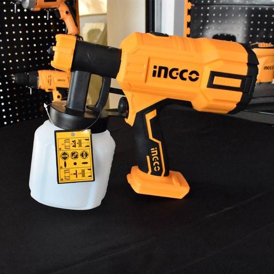Πιστόλι Βαφής Επαγγελματικό Μπαταρίας 20V Li-Ion SOLO INGCO