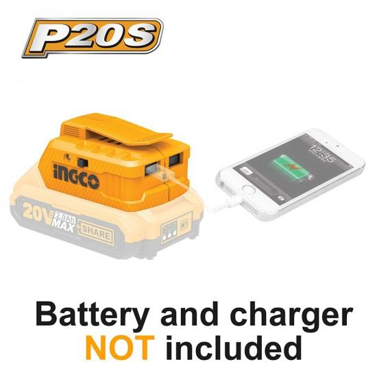 Φορτιστής USB-A Li-Ion Powerbank SOLO CUCLI2001 INGCO