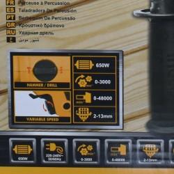 Επαγγελματικό Δράπανο Κρουστικό 650W ID6538-2 INGCO