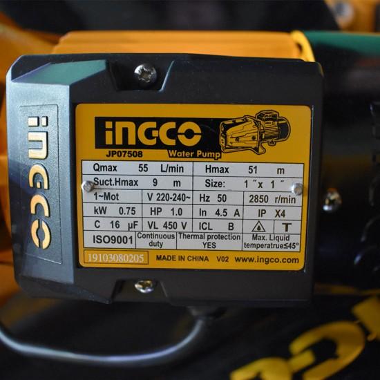 Αντλία Αυτόματης Αναρρόφυσης 750W JP07508 INGCO