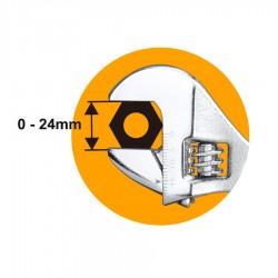 """Γαλλικό κλειδί 8"""" - 200mm HADW131082 INGCO"""