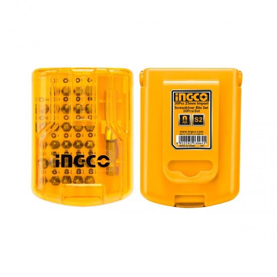 Επαγγελματικό Σετ 30 τεμ Μύτες 25mm Impact AKSD68303 INGCO