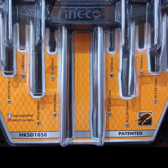 Σετ 10 τεμ Κατσαβίδια HKSD1058 INGCO