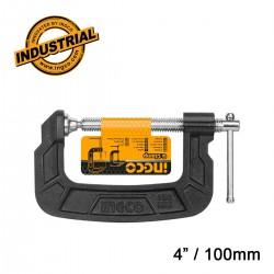 """Επαγγελματικός Σφιγκτήρας τύπου G   4"""" / 100mm HGC0104 INGCO"""