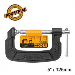 """Επαγγελματικός Σφιγκτήρας τύπου G   5"""" / 125mm HGC0105 INGCO"""