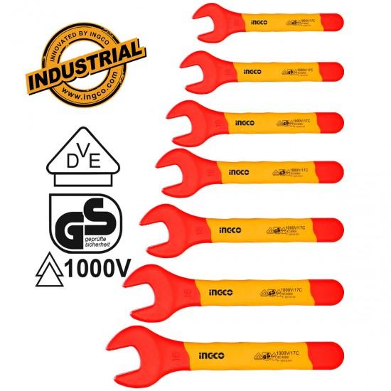 Επαγγελματικό Σετ 7 τεμ Κλειδιά Γερμανοπολύγωνα Ηλεκτρολόγου 1000V VDE HKISPA0701 INGCO