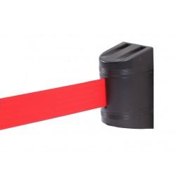 Εκτεινόμενος ιμάντας τοίχου σε κόκκινο χρώμα μήκους 5m με μαύρο πλαστικό κέλυφος WBR-500
