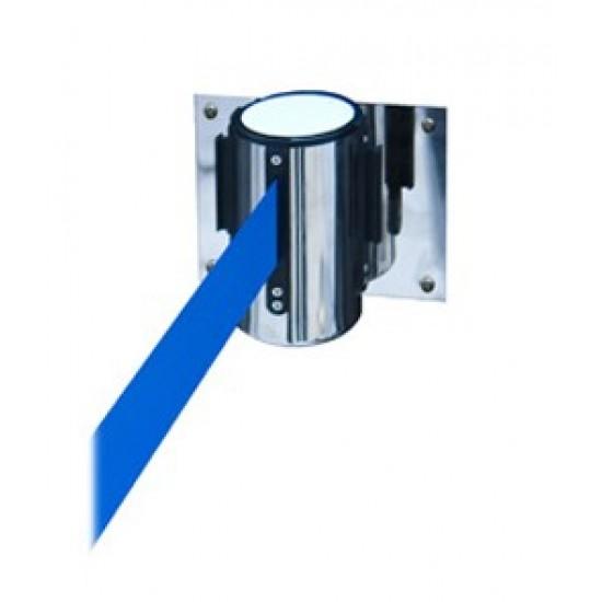 Εκτεινόμενος ιμάντας τοίχου σε μπλε χρώμα μήκους 2m με ασημί μεταλλικό κέλυφος inox WSB-200