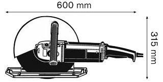 GWS 24 300J SDS DIMENSIONS